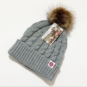 Pinterest Branded Winter Beanie Hat with Pom Pom